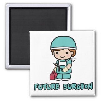 Surgeon (boy) 2 inch square magnet