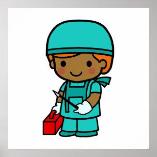 Surgeon Boy Poster