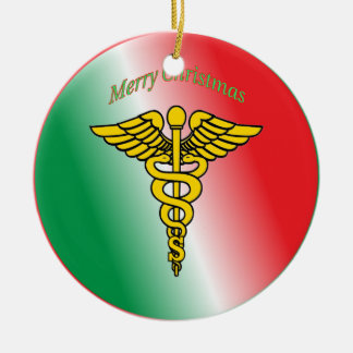 Surgeon Caduceus Shield Ceramic Ornament