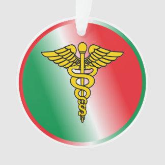Surgeon Caduceus Shield Ornament