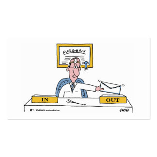 Surgeon Cartoon Business or Appointment Card Double-Sided Standard Business Cards (Pack Of 100)