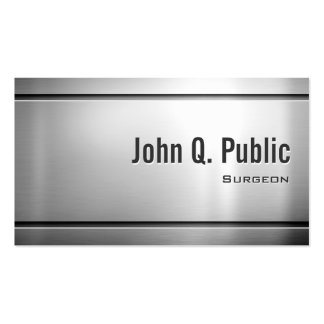 Surgeon - Cool Stainless Steel Metal Business Card