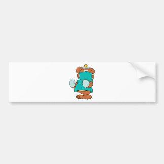 surgeon doctor teddy bear design bumper sticker