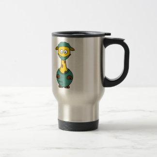 Surgeon Giraffe Cartoon Travel Mug