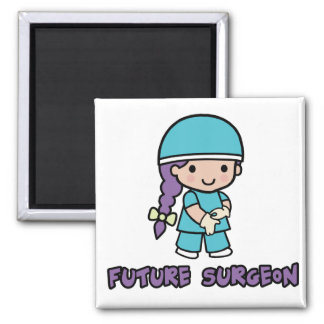 Surgeon (girl) 2 inch square magnet