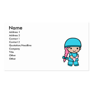 Surgeon Girl Double-Sided Standard Business Cards (Pack Of 100)