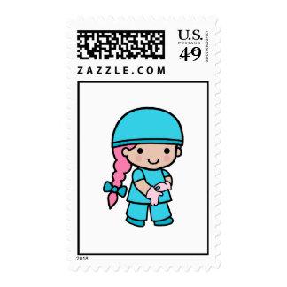Surgeon Girl Postage Stamp