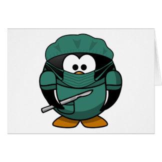 Surgeon Penguin Cartoon Card