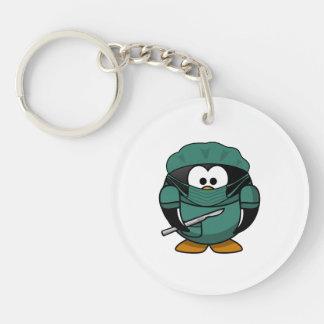 Surgeon Penguin Cartoon Keychain