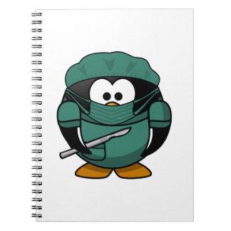 Surgeon Penguin Cartoon Notebook