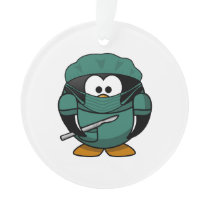 Surgeon Penguin Cartoon Ornament
