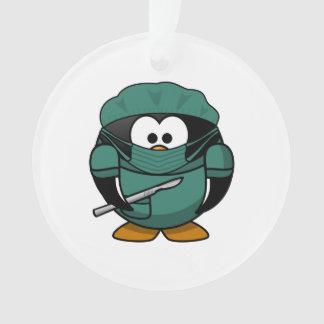 Surgeon Penguin Cartoon Ornament