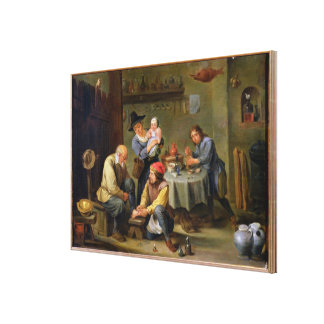 Surgeon Tending the Foot of an Old Man Canvas Print