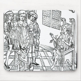 Surgeon visits a man with arrow wounds, from 'Das Mouse Pad