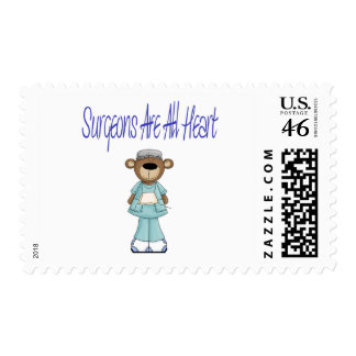 Surgeons Are All Heart Postage Stamp