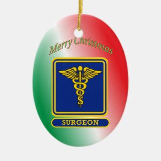 Surgeons Caduceus Shield Ceramic Ornament