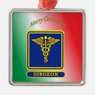Surgeons Caduceus Shield Metal Ornament