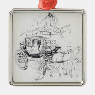 Surgeon's Carriage at St. Bartholomews Metal Ornament