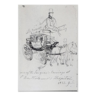 Surgeon's Carriage at St. Bartholomews Poster