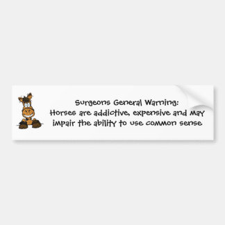 Surgeons General Warning bumper sticker
