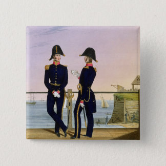 Surgeons, plate 6 from 'Costume of the Royal Navy Pinback Button