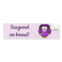 surgeowl girl - bumper sticker