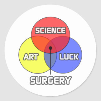 Surgery .. Science Art Luck Classic Round Sticker