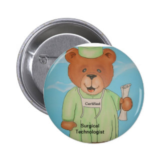 Surgery tech gifts pinback buttons