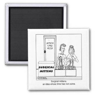 Surgical Mittens Hospital Cartoon Magnet