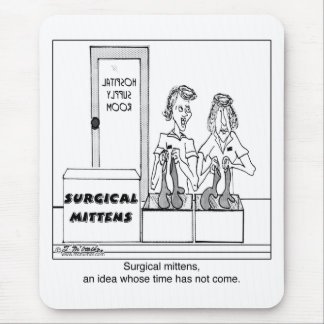 Surgical Mittens Hospital Cartoon Mouse Pad