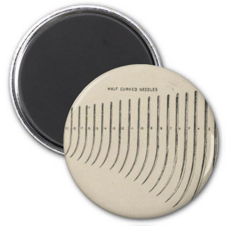 Surgical needles 2 inch round magnet
