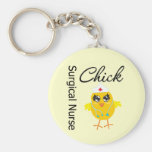 Surgical Nurse Chick v1 Basic Round Button Keychain