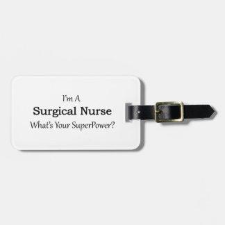 Surgical Nurse Luggage Tag