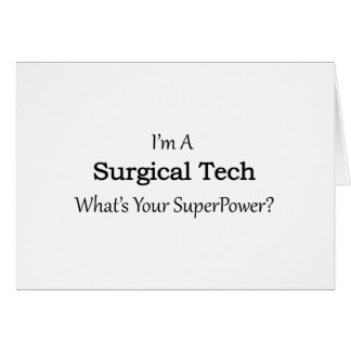Surgical Tech Card