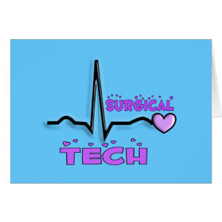 Surgical Tech Gifts  QRS Design Greeting Cards