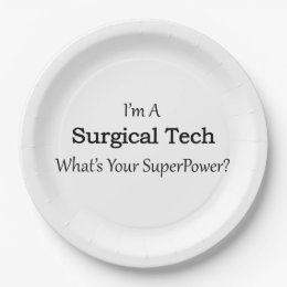 Surgical Tech Paper Plate