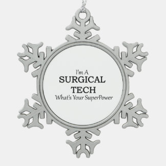 SURGICAL TECH SNOWFLAKE PEWTER CHRISTMAS ORNAMENT