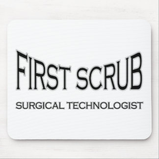 Surgical Technologist - First Scrub (black) Mouse Pad