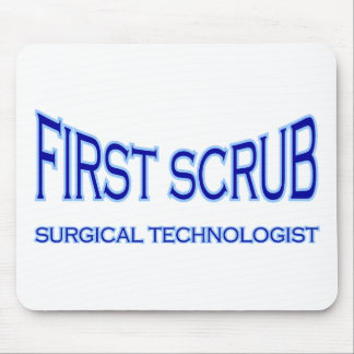 Surgical Technologist - First Scrub (blue) Mouse Pad