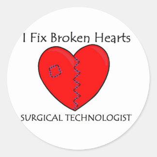 Surgical Technologist - I Fix Broken Hearts Classic Round Sticker