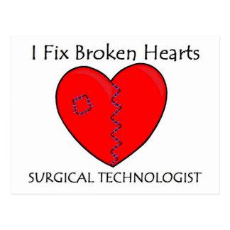 Surgical Technologist - I Fix Broken Hearts Postcard