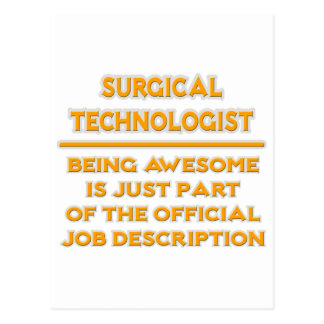 Surgical Technologist .. Job Description Postcard