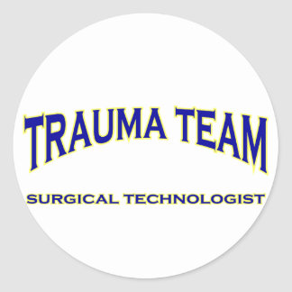 Surgical Technologist - Trauma Team (navy) Classic Round Sticker