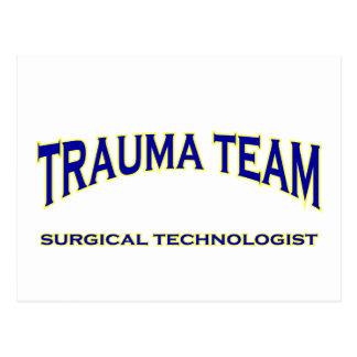 Surgical Technologist - Trauma Team (navy) Postcard