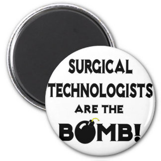 Surgical Technologists Are The Bomb! 2 Inch Round Magnet