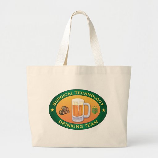 Surgical Technology Drinking Team Jumbo Tote Bag