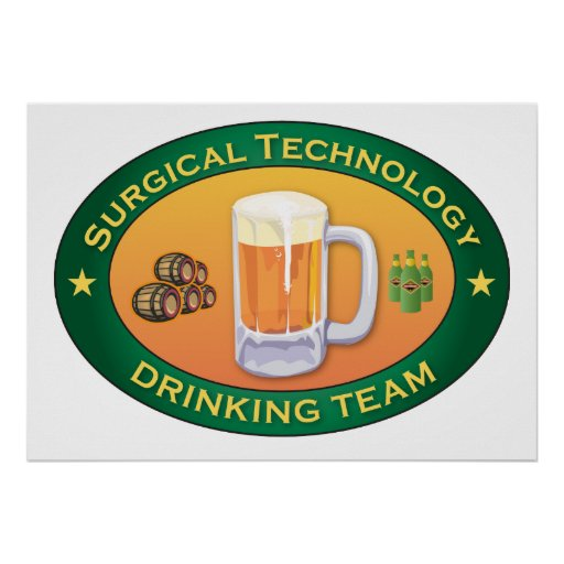 Surgical Technology Drinking Team Poster