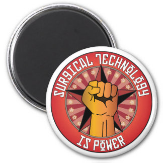 Surgical Technology Is Power 2 Inch Round Magnet