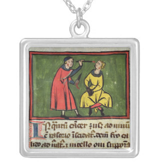 Surgical treatment, from an edition square pendant necklace
