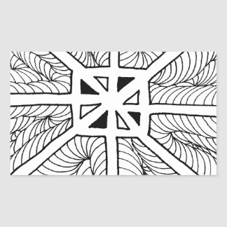 Surging Turbulence Rectangle Stickers